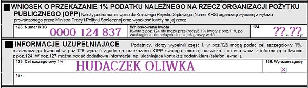 Hudaczek Oliwka